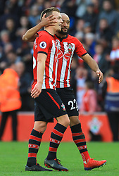 Southampton's James Ward-Prowse (left) and Nathan Redmond celebrate after the final whistle