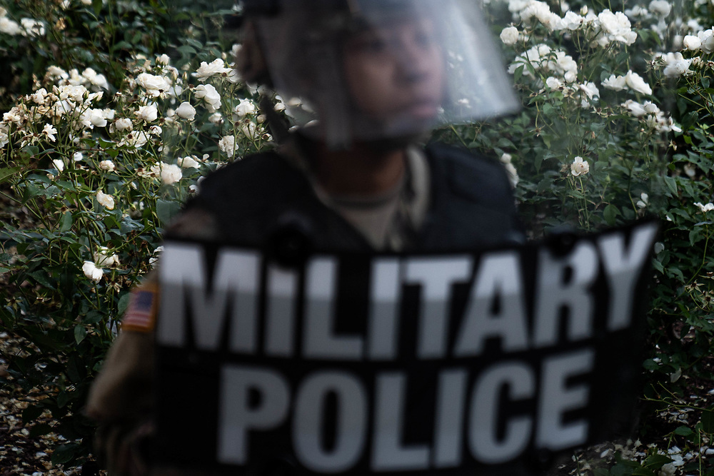 U.S. Park police and Military police, on foot and horse keep demonstrators back during protests June 1, 2020 in Washington DC. The death of George Floyd in Minneapolis, Minnesota has sparked protestors across the country. Minneapolis police officer Derek Chauvin was taken into custody and charged with third-degree murder and manslaughter. REUTERS Photo by Ken Cedeno