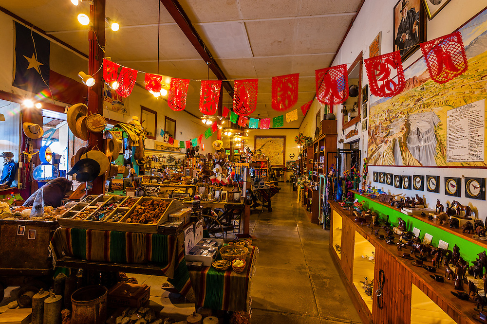 Handicrafts, Terlingua Trading Company, Terlingua ghosttown, near Big Bend National Park, Texas USA.