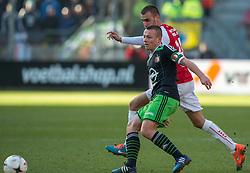01-03-2015 NED: FC Utrecht - Feyenoord, Utrecht<br /> In de Galgenwaard voltrok zich een inspiratieloos duel en eindigde dan ook in 0-0 / Jordy Clasie © #6, Danny Verbeek #20