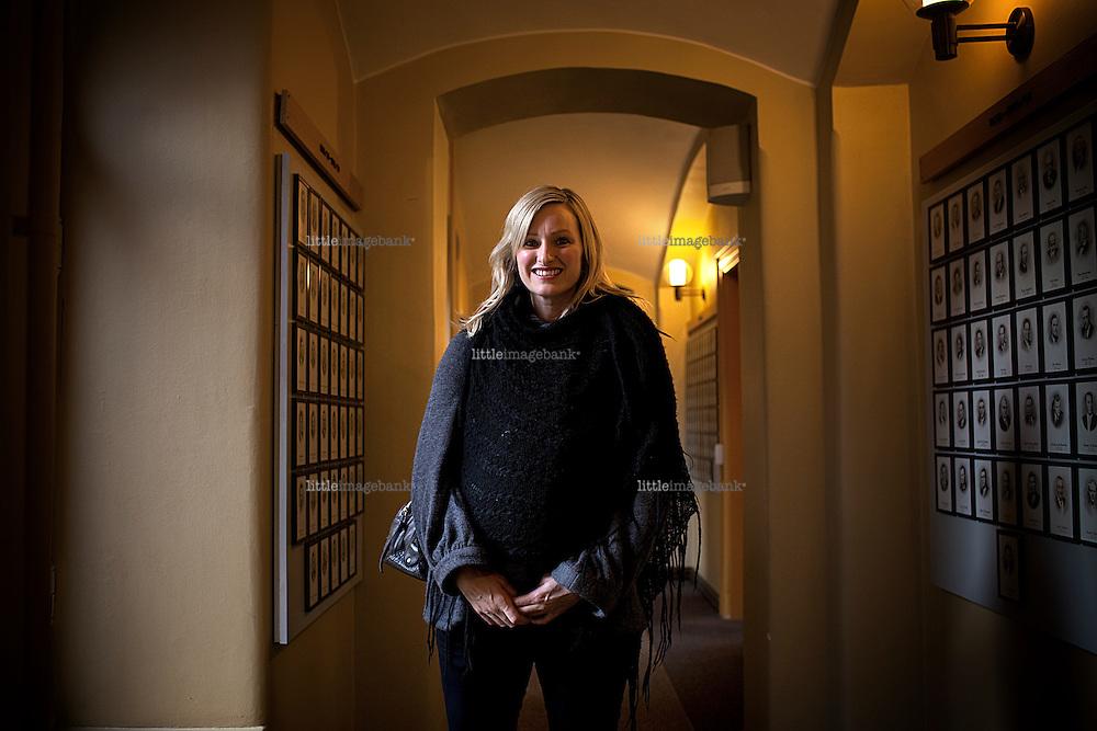 Inga Marte Thorkildsen (SV) at the Norwegian parliament Stortinget. Oslo. 27.11.09. Foto: Christopher Olssøn