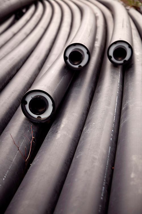 Landfill leachate water pipes