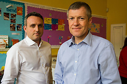 Pictured: Alex Cole-Hamilton, Scottish Liberal Democrat candidate for Edinburgh Western and Willie Rennie<br /> <br /> Scottish Liberal Democrat leader Willie Rennie marked the first full day of campaigning for the Scottish Election by visiting  the New Town Nursery in Edinburgh. He was joined by Edinburgh Western candidate Alex Cole-Hamilton as the children were enjoying a lively morning<br /> <br /> Ger Harley | EEm 23 March 2016