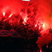 Fenerbahce's Supporters fans during their Turkish superleague soccer match Gaziantepspor between Fenerbahce at the Kamil Ocak stadium in Gaziantep Turkey on Saturday 26 January 2013. Photo by Aykut AKICI/TURKPIX