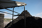 Israel, Tyrec LTD Tire recycling industries a mound of shredded tyres