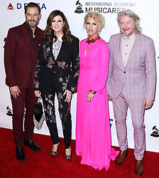 LOS ANGELES, CA, USA - FEBRUARY 08: 2019 MusiCares Person Of The Year Honoring Dolly Parton held at the Los Angeles Convention Center on February 8, 2019 in Los Angeles, California, United States. 08 Feb 2019 Pictured: Philip Sweet, Kimberly Schlapman, Karen Fairchild, Jimi Westbrook, Little Big Town. Photo credit: Xavier Collin/Image Press Agency / MEGA TheMegaAgency.com +1 888 505 6342