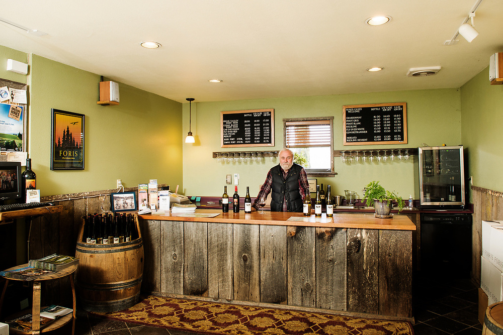 Ted Gerber owner of Foris Winery & VineyardsForis Vineyards in the Illinois Valley, Oregon