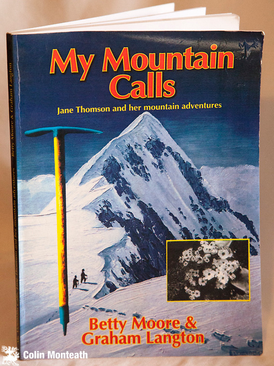 MY MOUNTAIN CALLS, Jane Thompson and her mountain adventures, Betty Moore & Graham Langton, 1st edn., 1998, card covers, 122 pages, B&W plates,  Climbing exploits/biography of Mrs Jane Thompson, 2nd woman to climb GT Aoraki with Guide -  by Konrad Kain etc - this copy inscribed by Betty Moore $NZ55