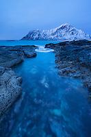 Skagsanden beach, Flakstad, Flakstadøy, Lofoten Islands, Norway