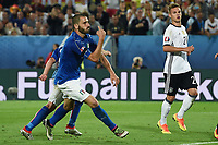 esultanza gol Leonardo Bonucci goal celebration<br /> Paris 02-07-2016 Parc des Princes Football Euro2016 Germany - Italy/ Germania - Italia<br /> Round of 4, Foto Matteo Gribaudi/Image Sport / Insidefoto