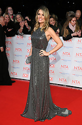 Charlotte Hawkins attending the National Television Awards 2018 held at the O2, London. Photo credit should read: Doug Peters/EMPICS Entertainment