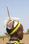 Africa, Ethiopia, Omo Valley, Daasanach tribe man