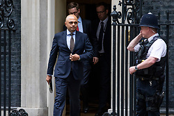 © Licensed to London News Pictures. 04/06/2018. London, UK. Home Secretary Sajid Javid (L) leaves 10 Downing Street. Photo credit: Rob Pinney/LNP
