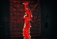 Belly Dancer, Turkish folklore show, Club Kervanaray (hotel), Kusadasi, Turkey