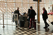 boarding gate with people at Toulouse airport Blagnac