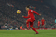 Roberto Firmino of Liverpool in action. Premier League match, Liverpool v Sunderland at the Anfield stadium in Liverpool, Merseyside on Saturday 26th November 2016.<br /> pic by Chris Stading, Andrew Orchard sports photography.