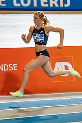 Andrea Bouma in action on the 400 meter during AA Drink Dutch Athletics Championship Indoor on 20 February 2021 in Apeldoorn.