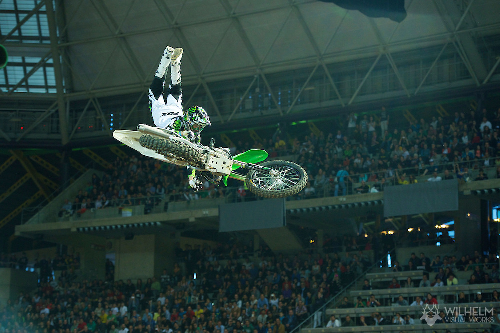 Andre Villa during Moto X Speed and Style Finals at the 2013 X Games Barcelona in Barcelona, Spain. ©Brett Wilhelm/ESPN