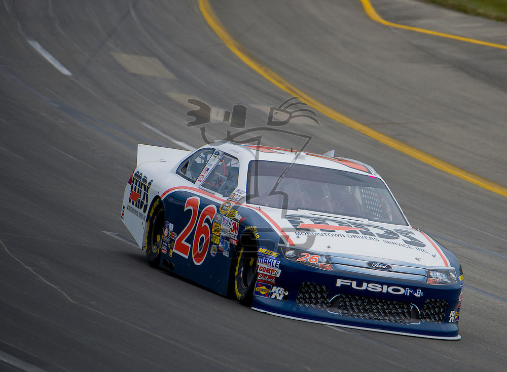 Sparta, KY - JUN 29, 2012: Josh Wise (26) during qualifying for the Quaker State 400 at Kentucky Speedway in Sparta, KY.