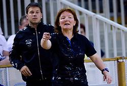 Uros Bregar and Coach of Krim Mercator at first finals handball match of Slovenian Women National Championships between RK Olimpija and RK Krim Mercator, on May 16, 2009, in Arena Tivoli, Ljubljana, Slovenia. Olimpija won after 10 years vs Krim Mercator 30:28. (Photo by Vid Ponikvar / Sportida)