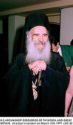 H.E.ARCHBISHOP GREGORIOS OF THYATEIRA AND GREAT BRITAIN,  at a ball in London on March 15th 1997.LXC 22