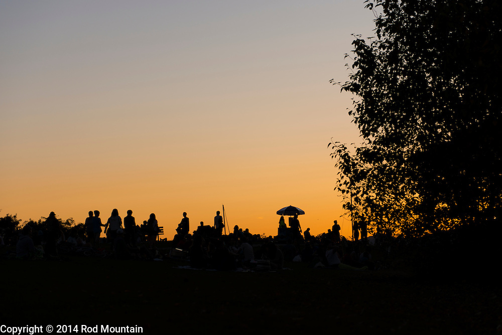 Sillouette as captured at dusk from Vanier Park in Vancouver, BC. © 2014 Rod Mountain