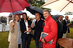 Left to right, CARLA BAMBERGER, KAREN MINIER, Racing driver DAVID COULTHARD and ARNAUD BAMBERGER at the Cartier Style Et Luxe at the Goodwood Festival of Speed, Goodwood House, West Sussex on 24th June 2007.<br />