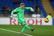 Cardiff city goalkeeper Ben Amos in action. EFL Skybet championship match, Cardiff city v Brighton & Hove Albion at the Cardiff city stadium in Cardiff, South Wales on Saturday 3rd December 2016.<br /> pic by Andrew Orchard, Andrew Orchard sports photography.