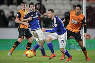 Anthony Pilkington (Cardiff City) during the Sky Bet Championship match between Hull City and Cardiff City at the KC Stadium, Kingston upon Hull, England on 13 January 2016. Photo by Mark P Doherty.