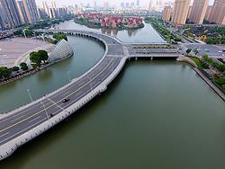 May 25, 2017 - Suzhou, Suzhou, China - Suzhou, CHINA-May 24 2017: (EDITORIAL USE ONLY. CHINA OUT) ..Aerial photography of the Y-shaped bridge in Suzhou, east China's Jiangsu Province, May 24th, 2017. (Credit Image: © SIPA Asia via ZUMA Wire)