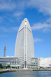 View of modern Intercontinental Hotel in Minato Mirai, Yokohama, Japan