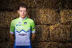 Izidor Penko during photo session of Slovenian Cycling Team for 2018 UCI Road World Championships Innsbruck, on September 17, 2018 in Zgornji Brnik, Slovenia. Photo by Matic Klansek Velej / Sportida