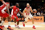 DESCRIZIONE : Milano Euroleague 2015-16 EA7 Emporio Armani Milano - Olympiacos Piraeus<br /> GIOCATORE : Vassilis Spanoulis<br /> CATEGORIA : palleggio penetrazione<br /> SQUADRA : Olympiacos Piraeus<br /> EVENTO : Euroleague 2015-2016<br /> GARA : EA7 Emporio Armani Milano - Olympiacos Piraeus<br /> DATA : 30/10/2015<br /> SPORT : Pallacanestro<br /> AUTORE : Agenzia Ciamillo-Castoria/Max.Ceretti<br /> Galleria : Euroleague 2015-2016 <br /> Fotonotizia: Milano Euroleague 2015-16 EA7 Emporio Armani Milano - Olympiacos Piraeus