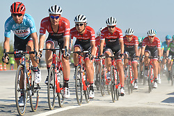 October 14, 2017 - Izmir, Turkey - Diego Ulissi (Left) from UAE Team Emirates in the lead during the fifth stage - the 166 km Vestel Selcuk to Izmir, the second last stage of the 53rd Presidential Cycling Tour of Turkey 2017..On Saturday, 14 October 2017, in Izmir, Turkey. (Credit Image: © Artur Widak/NurPhoto via ZUMA Press)