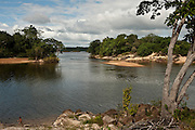 Essequibo River & child<br /> Iwokrama Forest Reserve<br /> GUYANA<br /> South America