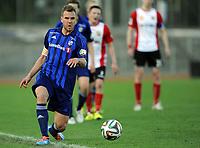 Fotball<br /> Norge<br /> 28.04.2014<br /> Oddsen-ligaen avdeling 3<br /> Stabæk 2 v Lyn 2:1<br /> Foto: Morten Olsen, Digitalsport<br /> <br /> Stian Sortevik (8) - Stabæk