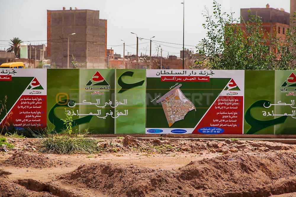 06-10-2015 -  Foto van Veel nieuwe projecten bij De stad van Marrakech in Marrakech, Marokko.