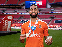 Blackpool's CJ Hamilton <br /> <br /> Photographer Andrew Kearns/CameraSport<br /> <br /> The EFL Sky Bet League One Play-Off Final - Blackpool v Lincoln City - Sunday 30th May 2021 - Wembley Stadium - London<br /> <br /> World Copyright © 2021 CameraSport. All rights reserved. 43 Linden Ave. Countesthorpe. Leicester. England. LE8 5PG - Tel: +44 (0) 116 277 4147 - admin@camerasport.com - www.camerasport.com