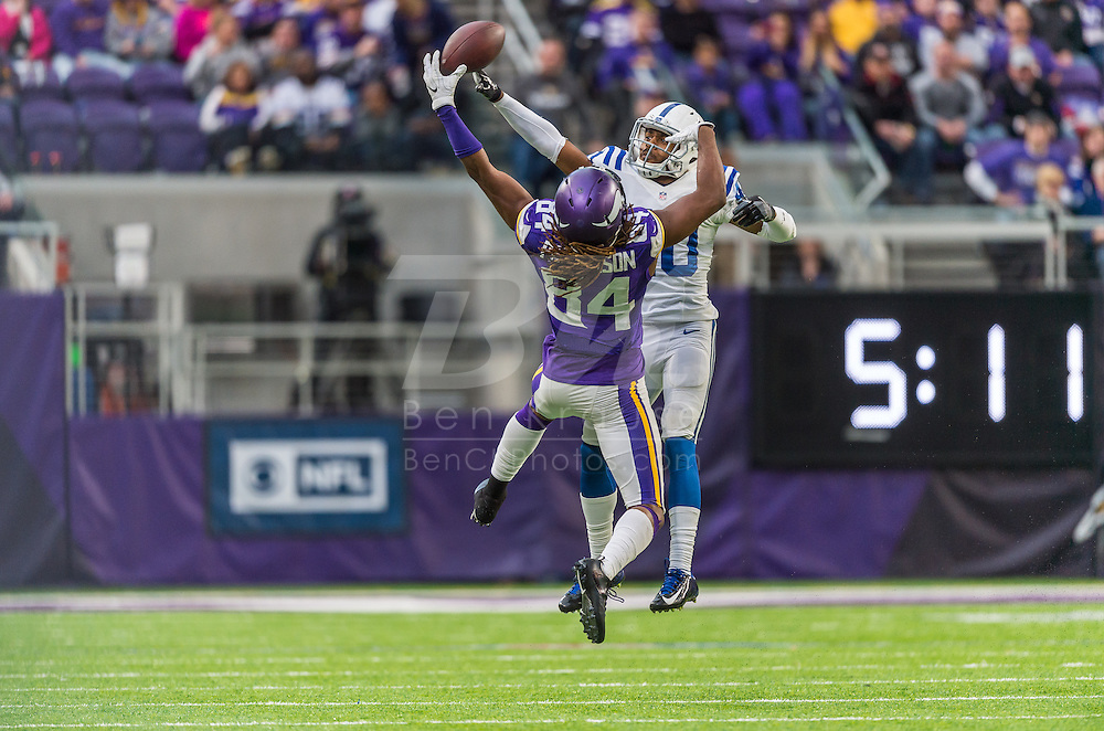 Minnesota Vikings vs. Indianapolis Colts on December 18, 2016 at U.S. Bank Stadium in Minneapolis, Minnesota.  Photo by Ben Krause/Minnesota Vikings