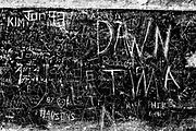 Graffiti on WWII bunker wall, October, Fort Casey State Park, Island County, Whidbey Island, Washington, USA