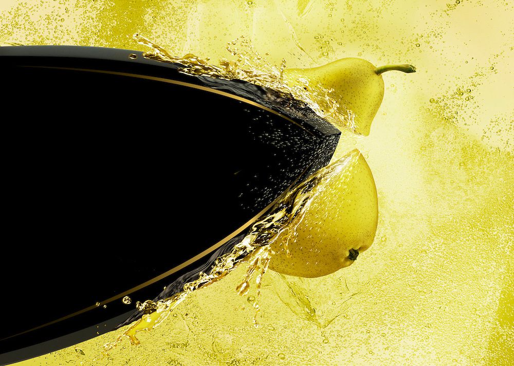 Strongbow Pear Cider Ray Massey is an established, award winning, UK professional  photographer, shooting creative advertising and editorial images from his stunning studio in a converted church in Camden Town, London NW1. Ray Massey specialises in drinks and liquids, still life and hands, product, gymnastics, special effects (sfx) and location photography. He is particularly known for dynamic high speed action shots of pours, bubbles, splashes and explosions in beers, champagnes, sodas, cocktails and beverages of all descriptions, as well as perfumes, paint, ink, water – even ice! Ray Massey works throughout the world with advertising agencies, designers, design groups, PR companies and directly with clients. He regularly manages the entire creative process, including post-production composition, manipulation and retouching, working with his team of retouchers to produce final images ready for publication.
