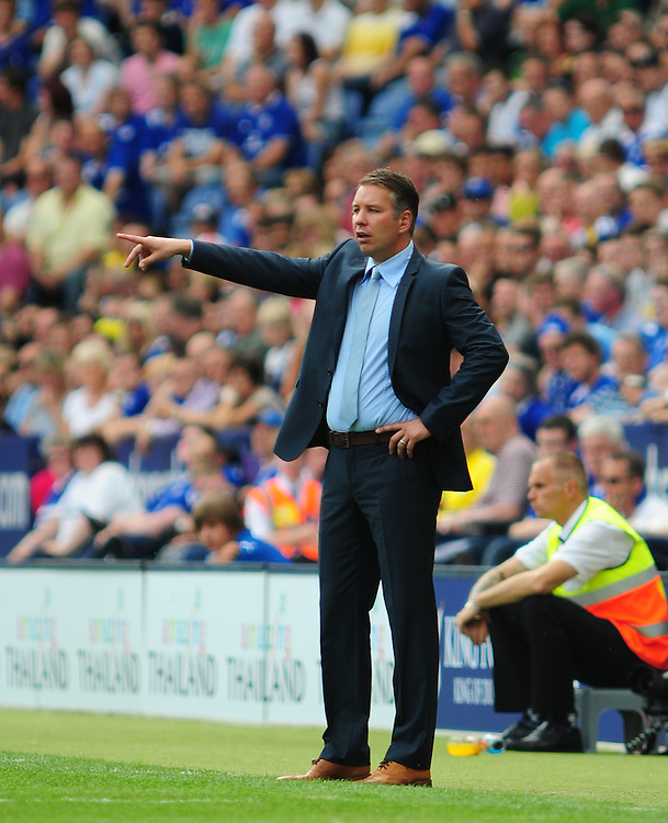 Peterborough United's Manager Darren Ferguson shouts instructions from the touchline..Football - npower Football League Championship - Leicester City v Peterborough United - Saturday 18th August 2012 - King Power Stadium - Leicester..
