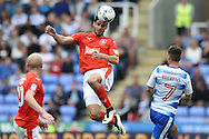 Christopher Schindler of Huddersfield Town heads the ball. EFL Skybet  championship match, Reading  v Huddersfield Town at The Madejski Stadium in Reading, Berkshire on Saturday 24th September 2016.<br /> pic by John Patrick Fletcher, Andrew Orchard sports photography.