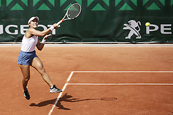 May 21, 2019 - Paris, France - Kristie Ahn during the match between Aliona Bolsova Zadoinov of ESP vs Kristie Ahn of USA in the first round qualifications of 2019 Roland Garros, in Paris, France, on May 21, 2019. (Credit Image: © Ibrahim Ezzat/NurPhoto via ZUMA Press)