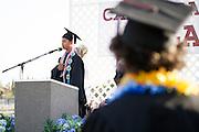 Cal Hills Class of 2012 senior Leo Gervacio leads the Pledge of Allegiance at graduation on June 15, 2012.  Photo by Stan Olszewski/SOSKIphoto.