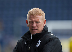 Falkirk's manager Gary Holt at the end..Falkirk 4 v 1 Morton, 4/5/2013..© Michael Schofield..