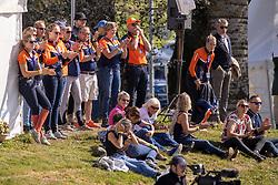 Team Netherlands, Boonzaaijer Janneke, Wilken Jordy, De Jong Sanne, Blom Merel, Heffernan Andrew, Hofland Leendert Jan, NED<br /> FEI EventingEuropean Championship <br /> Avenches 2021<br /> © Hippo Foto - Dirk Caremans<br />  23/09/2021