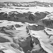 TransAntarctic Mountains on flight to the South Pole.