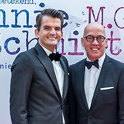 NLD/Amsterdam/20170924 - Première Was Getekend, Annie M.G. Schmidt, Maurice Wijnen en partner Ronald den Ouden