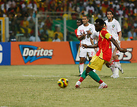 Photo: Steve Bond/Richard Lane Photography.<br /> Guinea v Morocco. Africa Cup of Nations. 24/01/2008. Pascale Feindounou strokes home a penalty for Guinea's third